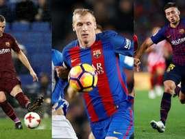 Lenglet, Mathieu et Vermaelen, trois des recrues du Barça à cette position. EFE