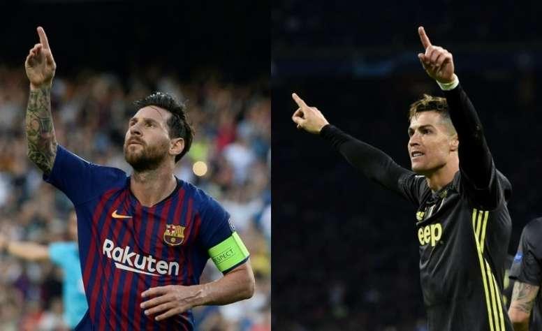 Los dos cracks del fútbol mundial siguen generando debate. Montaje/AFP