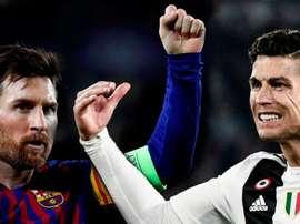 Cristiano e Messi no pódio dos mais famosos. AFP/EFE