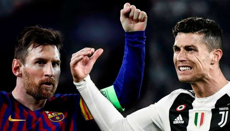The two superstars are in a race to reach 600 career goals. AFP/EFE