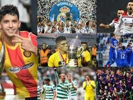 As 10 equipes com mais títulos no mundo. Collage/EFE