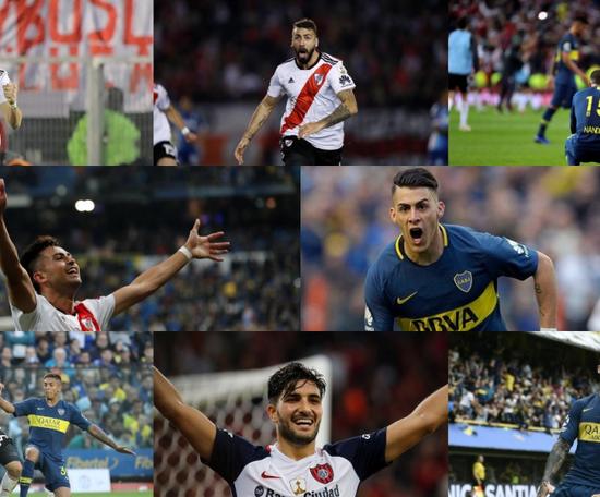Les 10 clauses les plus élevées d'Argentine. Collage/BeSoccer