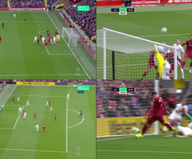 Les buts, y'en à Anfield. Collage/Movistar+