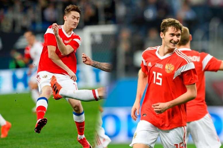 Los hermanos Miranchuk son una de las parejas de hermanos que disputarán este Mundial. EFE/AFP