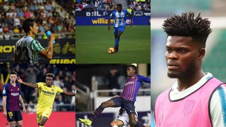 Los 19 representantes de LaLiga en la Copa África. Collage/EFE