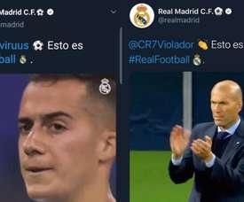 Hackean o Real Madrid com Lucas Vázquez de protagonista! Twitter/RealMadrid