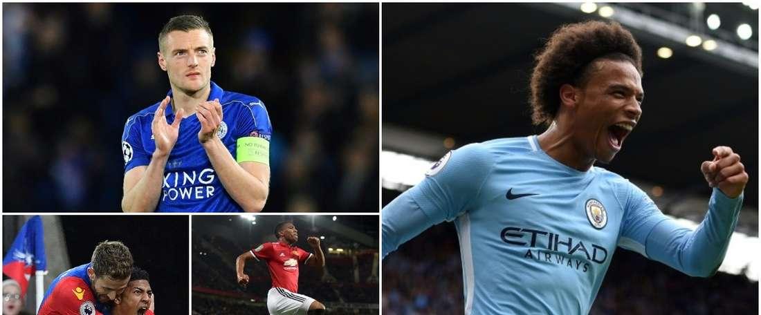 Collage des 20 joueurs les plus rapides de Premier League. BeSoccer