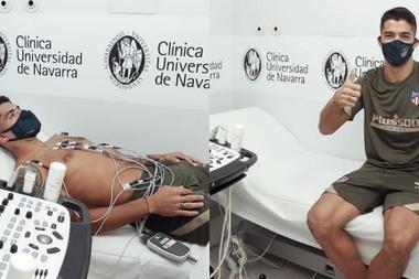 Luis Suarez a passé sa visite médicale avec l'Atletico Madrid. AtléticodeMadrid