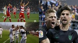 Málaga, Albacete y Granada, los 'líderes' de Segunda. BeSoccer