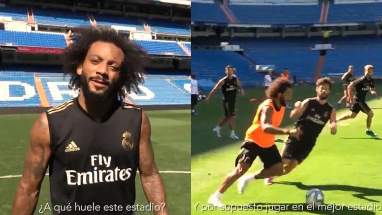 Marcelo, ansioso por volver al Bernabéu. Collage/RealMadrid