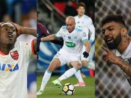 Marlos Moreno, Abdennour y Gabigol fueron cedidos a otros clubes. AFP/EFE