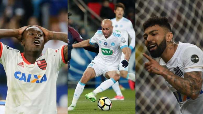 Marlos Moreno, Abdennour and Gabigol were loaned to other clubs. AFP/EFE