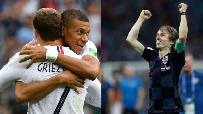 Francia y Croacia se citan en Moscú. BeSoccer