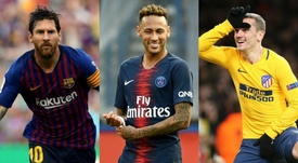 Messi wants to bring Neymar and send Griezmann to PSG. AFP