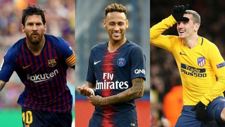 Messi traería a Neymar y mandará a Griezmann al PSG. AFP