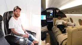 Messi y Cristiano cuentan con jets privados con todo tipo de comodidades. Instagram