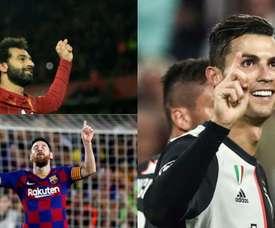 Questi sono i candidati ai Globe Soccer Awards. EFE/AFP