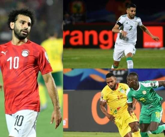 Os três candidatos a Bola de Ouro da África. Collage/EFE/AFP
