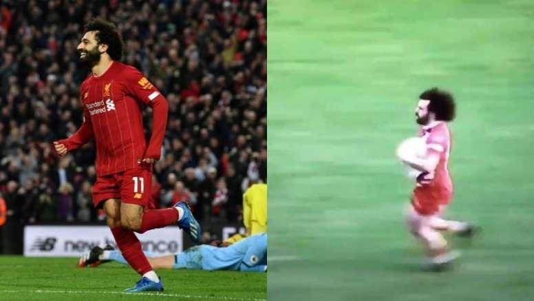 La ressemblance flagrante de Salah avec un joueur de rugby. AFP/Virg_VD