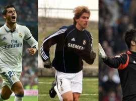Des anciens joueurs de Madrid. Twitter/Arbeloa/EFE