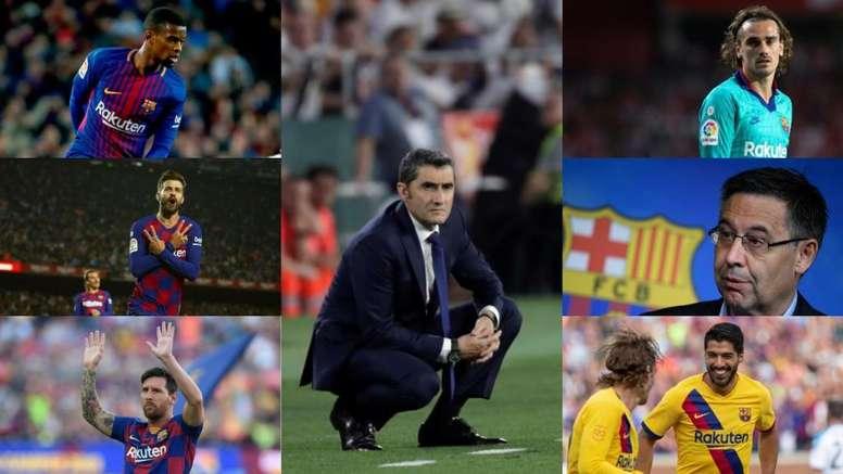Les coupables de la crise du Barça. EFE