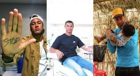 Neymar, CR7 y Sergio Ramos, tres de los futbolistas más solidarios. Instagram
