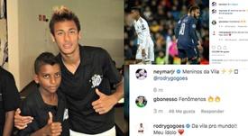 Neymar rend hommage à Rodrygo sur Instagram. Instagram/neymarjr
