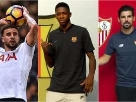 Walker, Dembélé y Nolito, tres de los jugadores más sobrevalorados de este mercado. BeSoccer