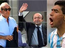 Platini, l'ex-président de la Juve et Maradona ont été au coeur de trois grands scandales. BeSoccer