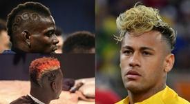Les coupes les plus chelous de Pogba, Neymar et Balotelli. AFP/Instagram