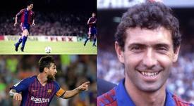 Quini, Amor y Messi, algunos de los 'milenarios' del FC Barcelona. BeSoccer