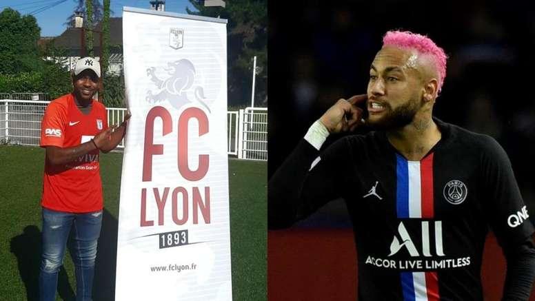 Un Sexta División de Francia ficha a un primo de Neymar. FCLyonOfficiel/EFE