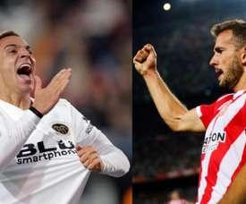 Rodrigo and Stuani are Barcelona's targets. EFE