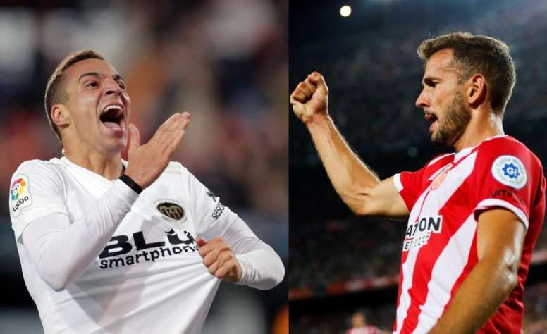 Stuani et Rodrigo, objectifs du Barça en attaque. EFE