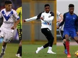 Rodrygo, Thiago Almada y Khéphren Thuram. Youtube/VélezSarfield