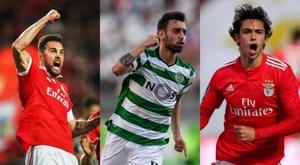 O Manchester United tem jovem trio português na mira. AFP
