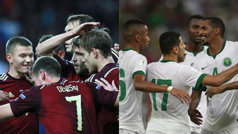 Russia and Saudi Arabia will get the World Cup underway. FIFA/BeSoccer