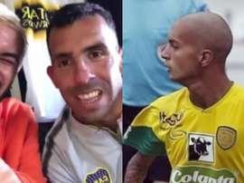 Pérez le contó la historia de Santiago Arroyave a Tévez. Instagram
