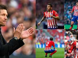 Lucas, Rodrigo, Godin and Griezmann will all leave Atletico this summer. Collage/BeSoccer