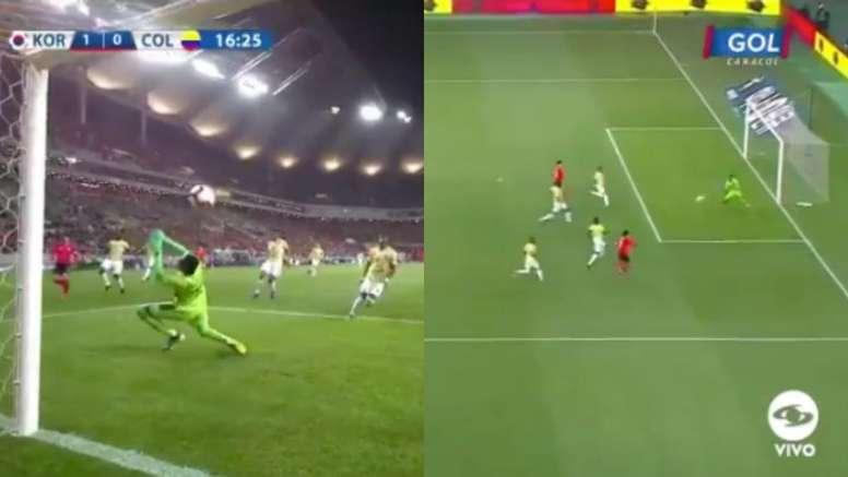 But de Son contre la Colombie. Capture/GolCaracol