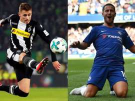 Thorgan and Eden hazard are in the form of their lives. AFP/BeSoccer