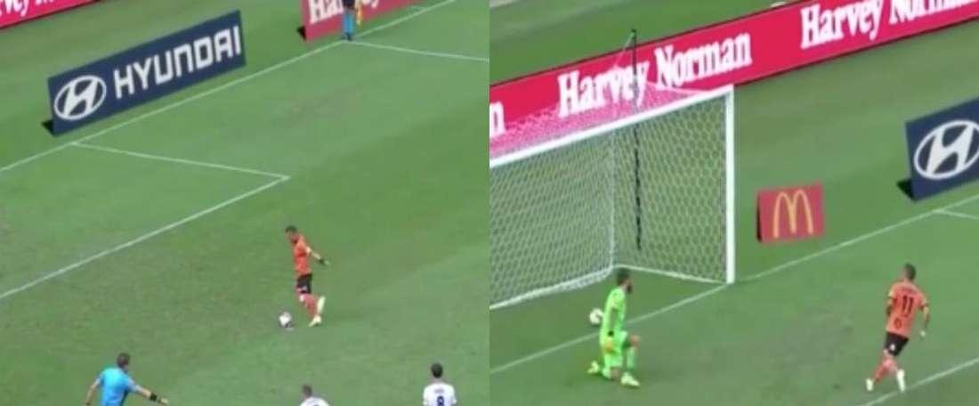Un penalty moche mais efficace. Catpure/Youtube