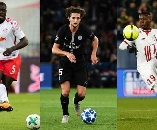 Upamecano, Rabiot y Nicolás Pepe interesan al Barça. AFP