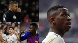 Los ocho rivales potenciales de Vinicius por el futuro Balón de Oro. BeSoccer/EFE/AFP