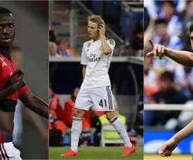 Vinicius Jr, Odegaard y Fede Valverde están intentando ganarse un puesto en el Madrid. BeSoccer
