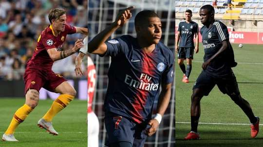 Zaniolo, Mbappé and Vinicius continue to fight for the award. AFP/EFE