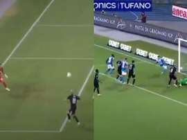 Theo and Di Lorenzo scored in the match. Screenshots/Movistar+