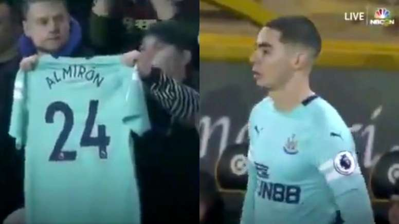 Almirón a disputé ses premières minutes. Capture/NBC