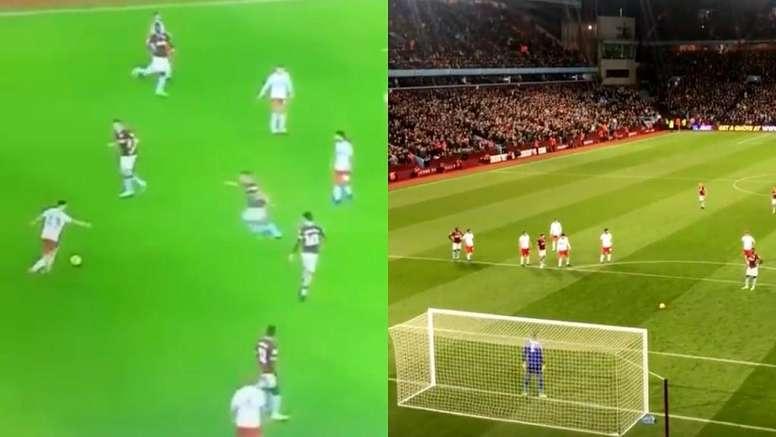 Partido espectacular entre Aston Villa y Nottingham Forest. Captura