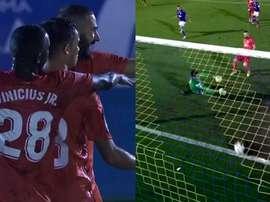 Benzema abrió el marcador. Captura/beINSports